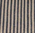 Jute striped black stair runner