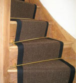 Curved Rug Stair Runner - Chocolate Sisal