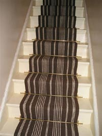 Coffee and Creme Jute Stair Carpeting